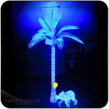 promotional green led light up palm trees coconut tree light buy
