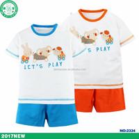 Summer fashion kids branded clothing sets wholesale