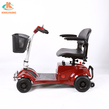 Foldable old people use 4 wheel electric mobility scooter