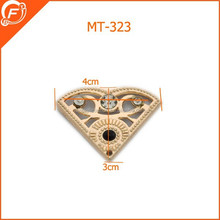 triangle metal brooches for decorate wedding dress