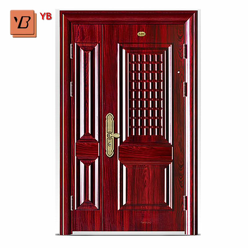 Mega March Sourcing Chinese Supplier 2018 New Design Economic Africa Doors Steel Entrance Security Ghana Door