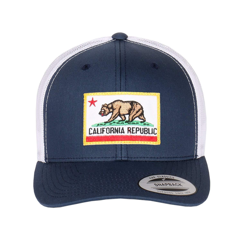 0b8210246d8 California Republic Flag Embroidered Patch On Flexfit Retro Classic Trucker  Hats