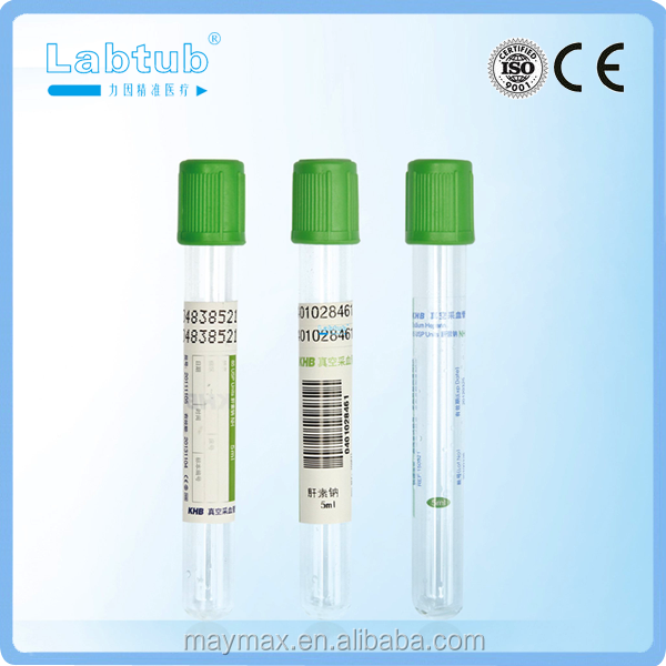 Sodium Heparin vacuum blood collection tube (high quality vacutainer)