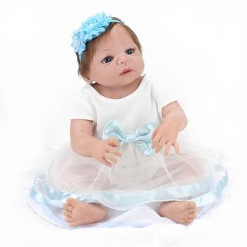 5b717b5367 NPK boneca bebês reborn bonecas 22 polegada molde de silicone de corpo  inteiro boneca de vinil