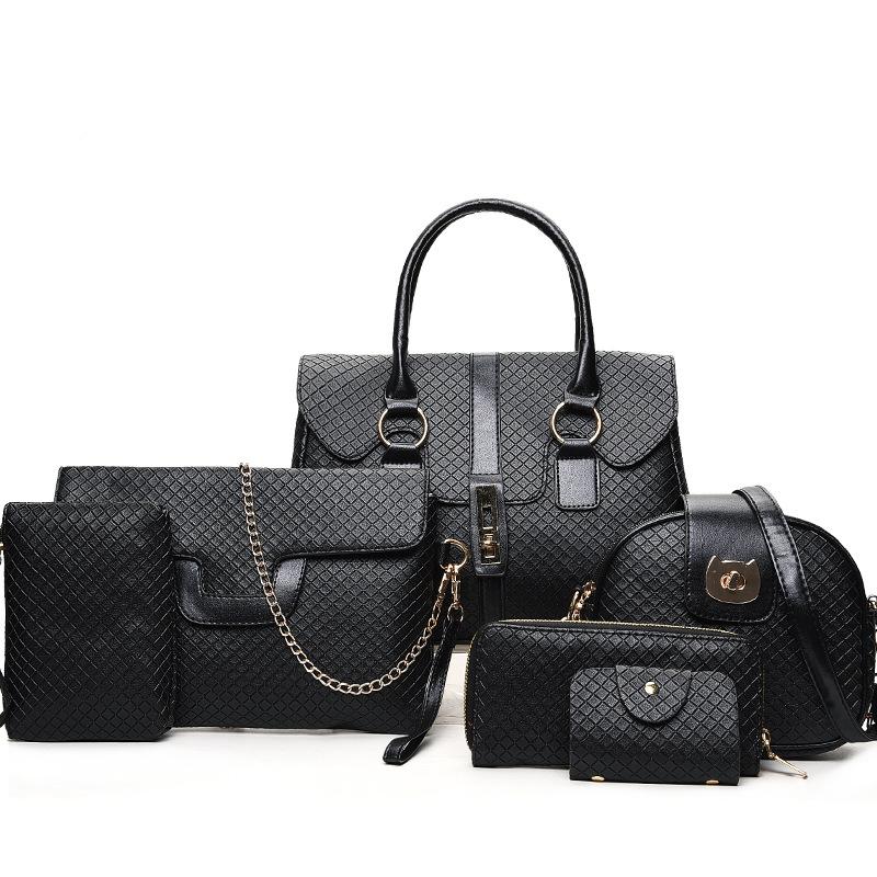 High Quality Fashion PU leather Factory Price Cheap New Model China  Wholesale Handbags Lady Hand Bag 6 pcs Handbag Sets f3ed0107b698c
