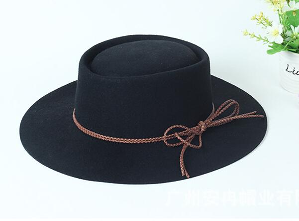 ba21a5809bc Wholesale Classic Mens Wool Fedora Hats Quality Winter Women Felt Fedora Hat  Ribbon Bowknot Men Plain Trilby Caps Spring Autumn