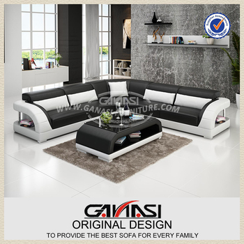 Latest Modern Furniture, Lounge Chair High Quality Leather Sofa Set