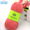 shanghai smb hand knitting natural yarn factory hot wholesale oeko tex quality 100g 50g yarn bamboo cotton skein yarn