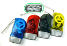 Hand Crank 3 Promotional LED Flashlight