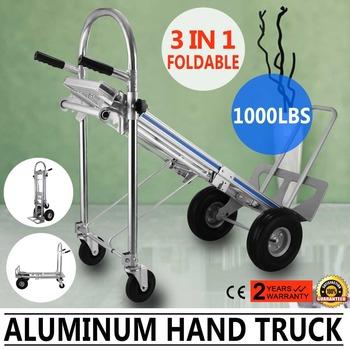 vevor aluminum hand truck 3 in 1 folding dolly cart 1000lbs capacity convertible hand - Convertible Hand Truck