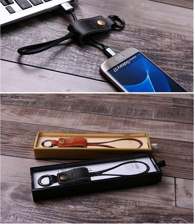 REMAX RC-034m Western PU En Cuir Micro USB Câble de Données