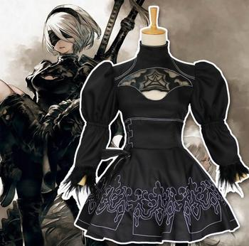 Hot Game NieR Automata Cosplay Anime Full Set 2b cosplay Clothing Wholesale  costumes 24ab27be51d3