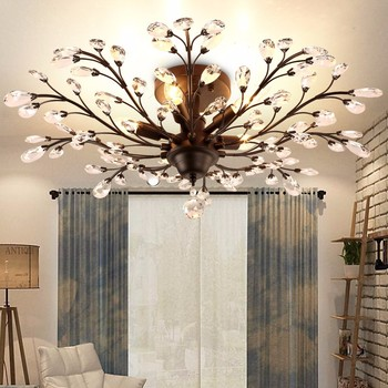 American Style Matt Black Retro Crystal Bedroom Chandelier Wrought Iron  Light 52186 - Buy Chandelier Wrought Iron,American Style Chandelier,Bedroom  ...