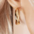 24397 xuping 14k color old fashioned hoop aretes earrings