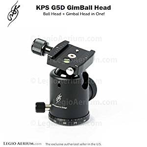 KPS G5D GimBall Head - Professional 44mm Ball Head with Gimbal Function