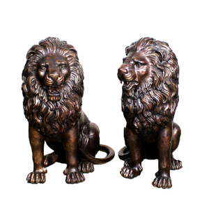 life size bronze lion sculpture antique brass lion statue