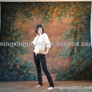 Shaoxing shangyu camo print photo shoot muslin photography background with tail