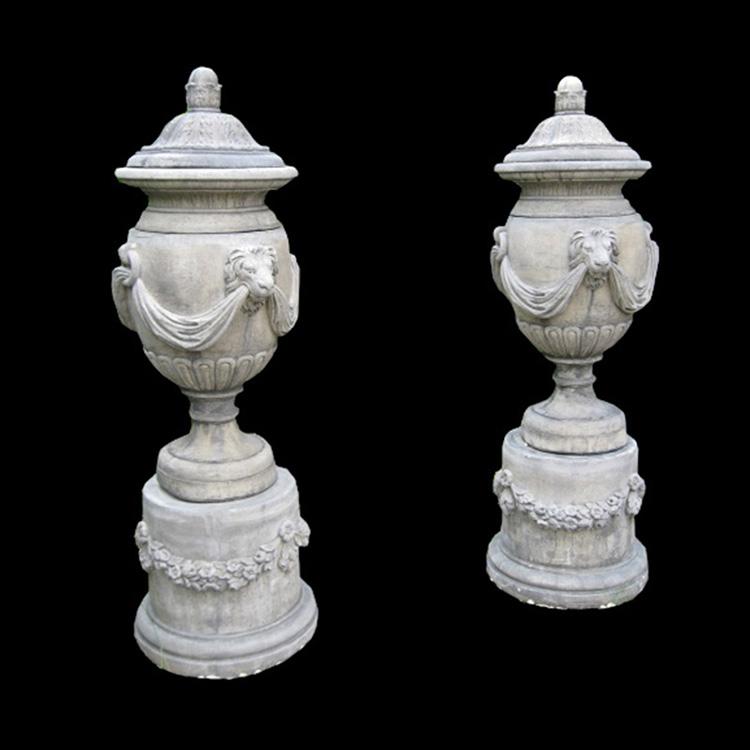 Round carving modern indoor flowerpot