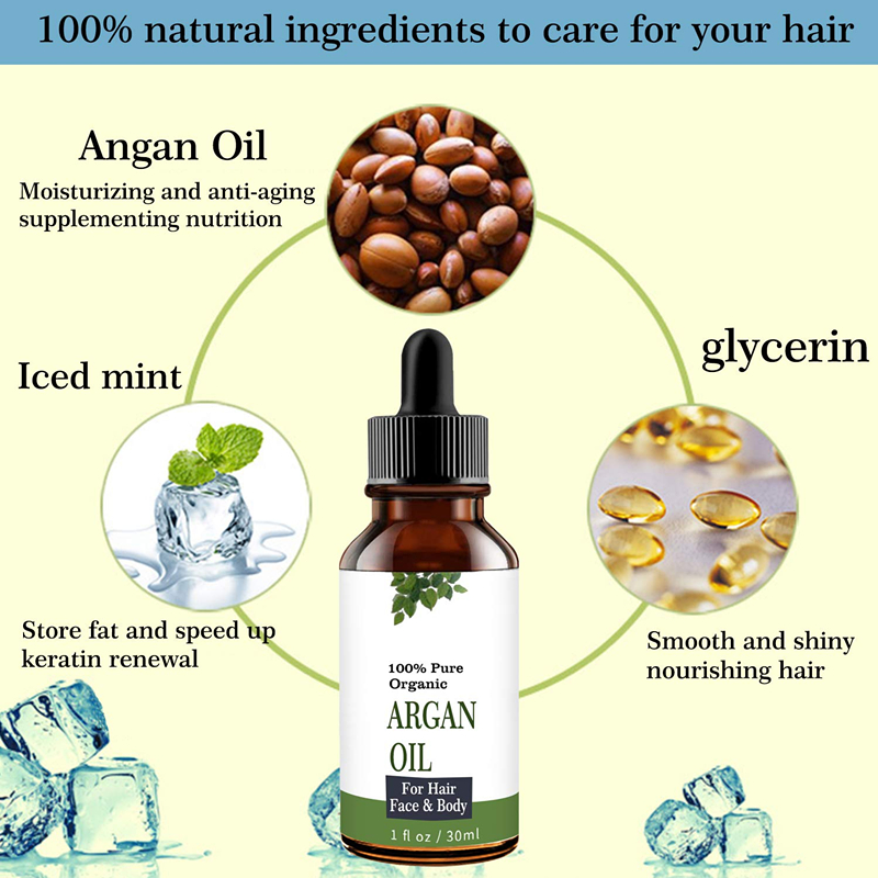 100% Organic Certified Cold - Pressed น้ำมัน Argan, Face And Body