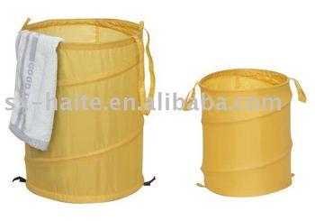 Doule Layer Pop Up Laundry Basket Collapsible Bag Folding Hamper