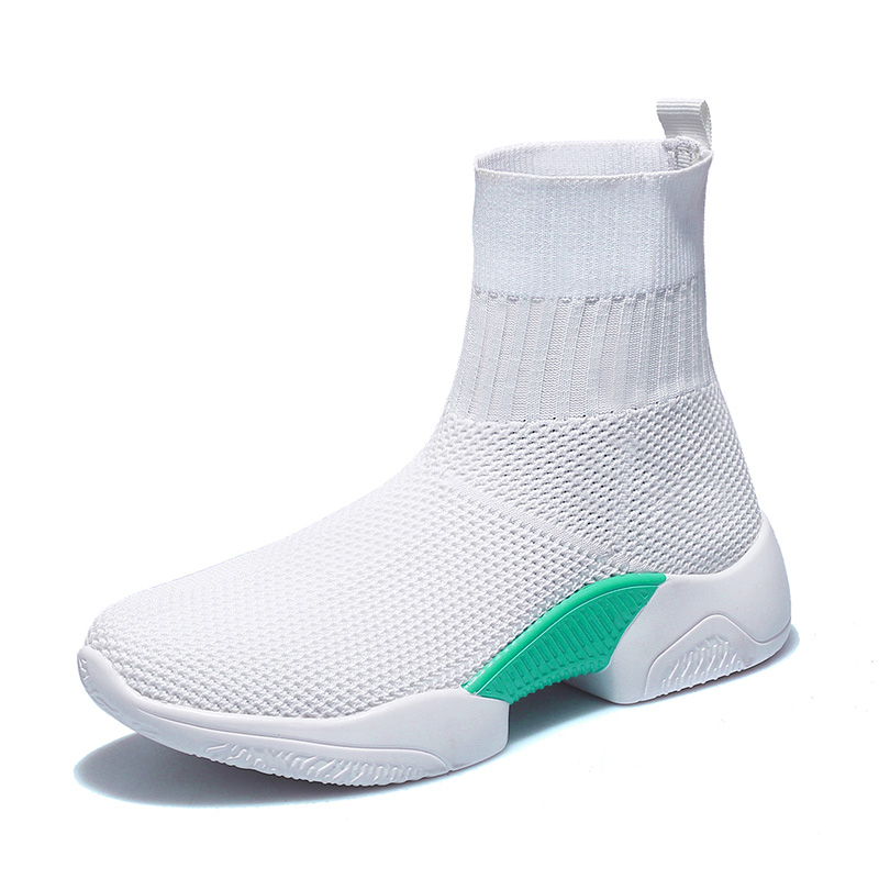 2019 white knit upper ankle sock boots in womens boots black trainers speed sneakers <strong>shoes</strong> Woman