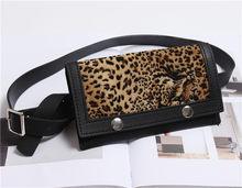 Mihaivina, винтажная Женская поясная сумка, леопардовая сумка на ремне, брендовая поясная сумка из искусственной кожи, поясная сумка, подходит д...(Китай)