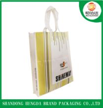 Factory production nonwoven material shopping bags with custom's logo for promotional giveaways