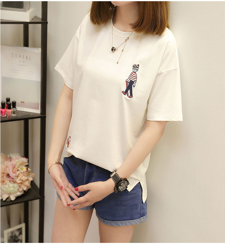 Wholesale election procession personality designs picture logo men lady custom t-shirt embroidery