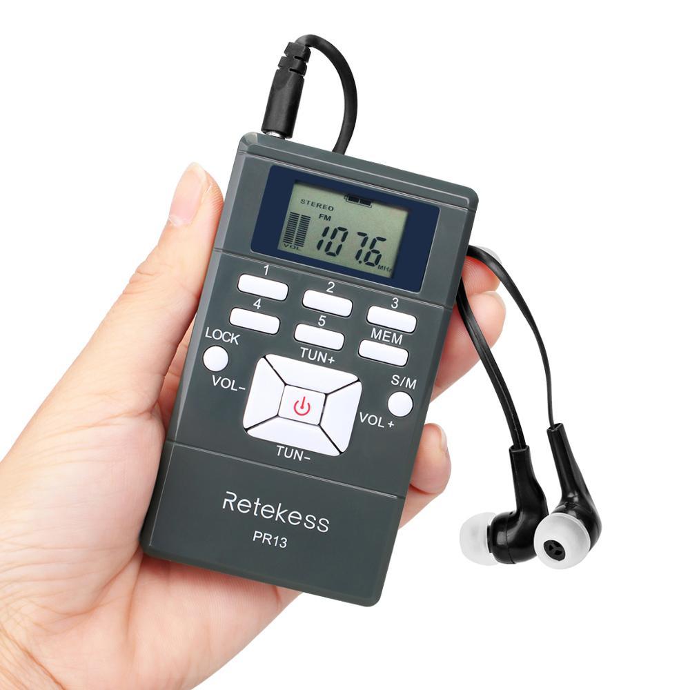 Preset Channels FM Receiver For Conference Mini earpiece fm radio with Headset Retekess PR13