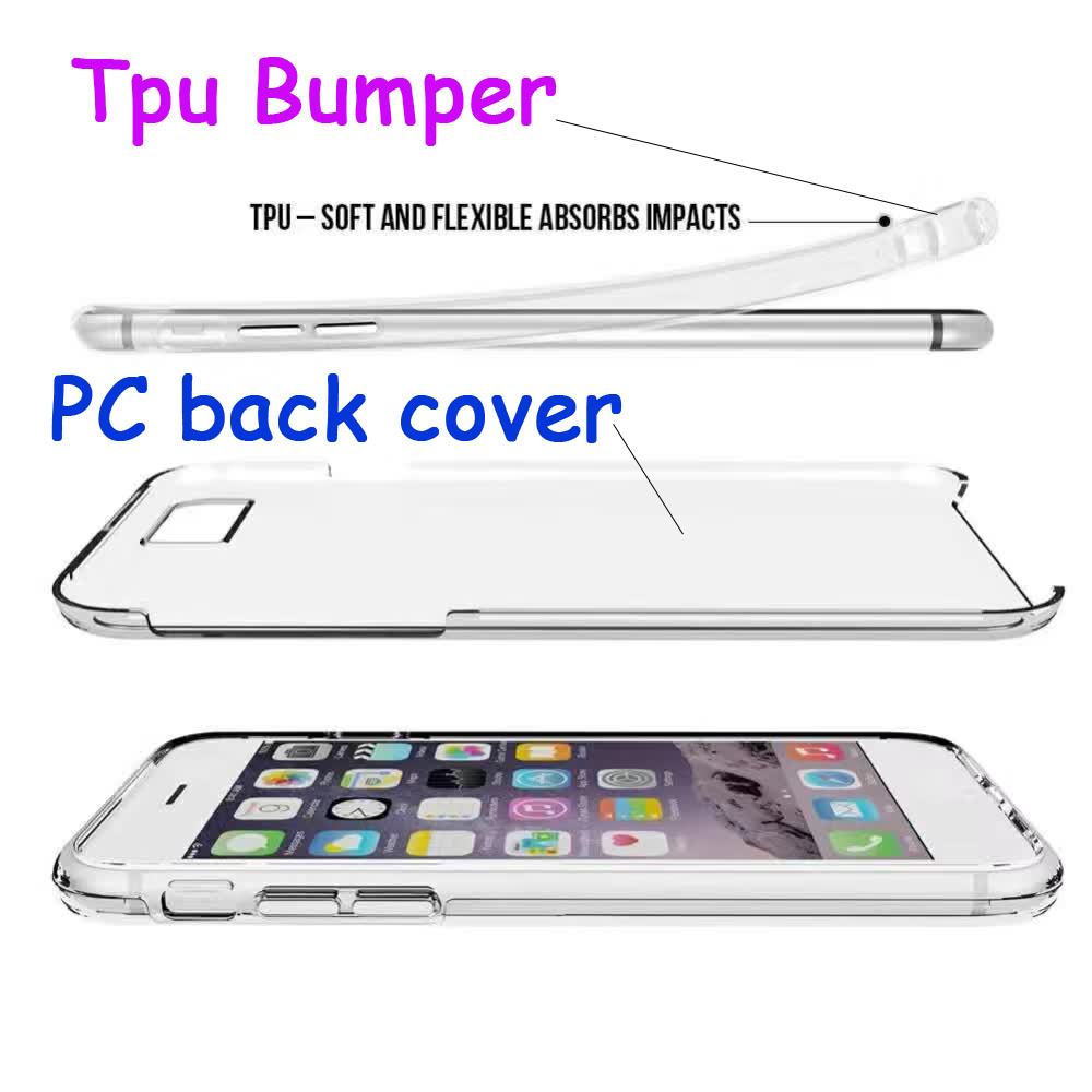 2016 New coming Transparent TPU Bumper + PC Cover case for LG Nexus 5 5X