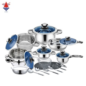 High quality 24pcs stainless steel cookware set induction cooking pot with thermometer for home & restaurant