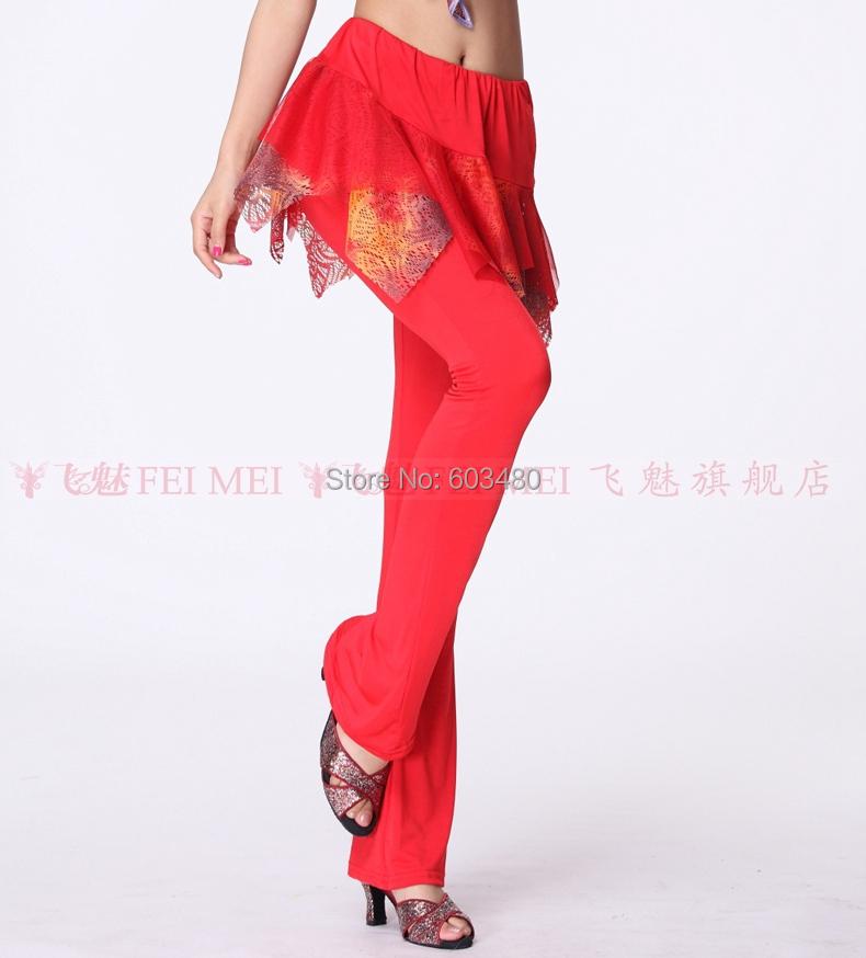 875f0df4adbe Get Quotations · Women s Latin Dance Milk silk practice pants Flower Sesha  culottes Autumn and winter wear Square Dance