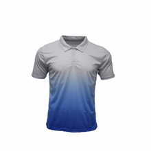 Custom dye sublimation design color combination dry fit polo shirt