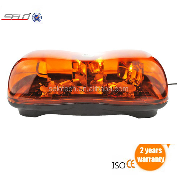 Amber Rotating Beacon Mini-Light Bar Oversize Load Warning Light Truck Semi Car