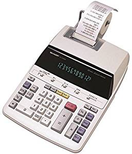 "Wholesale CASE of 5 - Sharp 12-Digit Calculator w/ Tax Keys-12-Digit Calculator, 2-Color Print, 8-1/8""x10-1/8""x2"", GY"