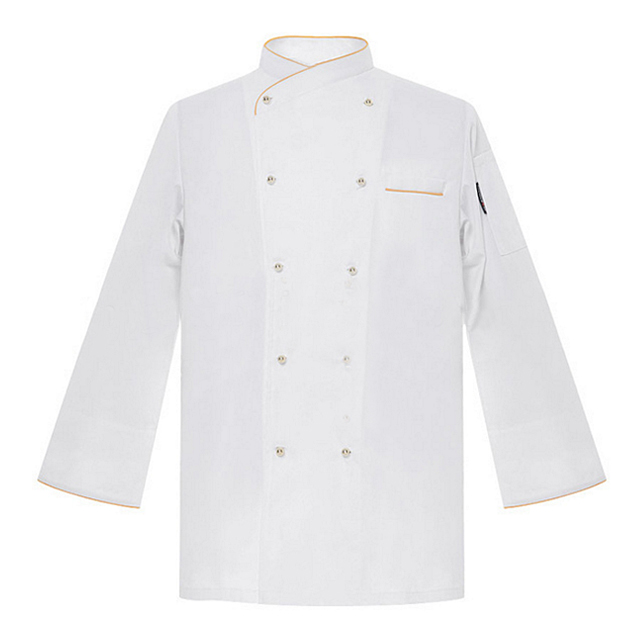 2019 Men's Profession Fashion Design White Chef Jacket Modern Formal Kitchen Workwear Best Sales Restaurant/Bar Chef Coat