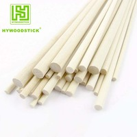Wooden Thin Round Sticks 114mm Flat For Popsicle Lollipop Candy