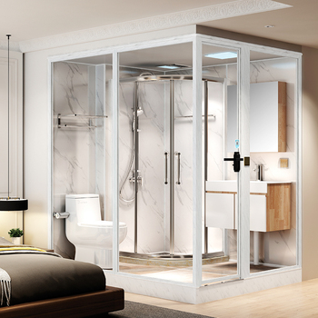 Hot Sale glass prefabricated bathroom, Modular Bathroom