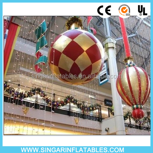 Inflatable christmas hanging ball/indoor decoration ornaments