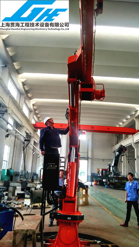 Telescopic Slewing Crane : Full slewing telescopic boom marine deck provision crane