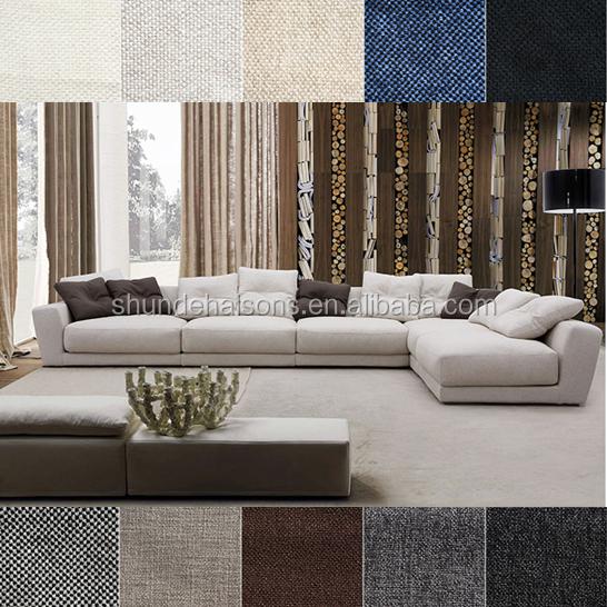 Italian Sofa Jakarta: Modern Italian Style Fabric Sofa Made Of Linen And Foam
