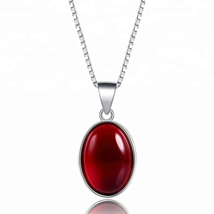 wholesale big ruby gemstone jewellery silver necklace pendant