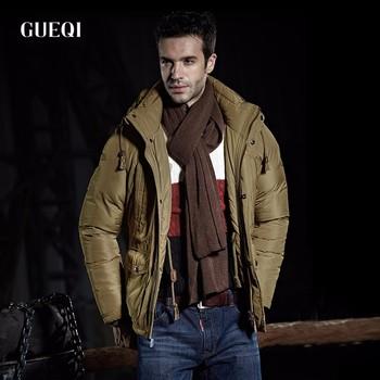 Winter Jackets Mens Thicken Warm Fur Collar Outwear Winter Hooded