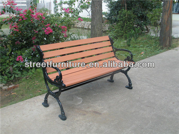Wpc Bench, Wood Plastic Composite Bench Seat Bench Chair Outdoor Bench Cast Iron  Bench Furniture ...