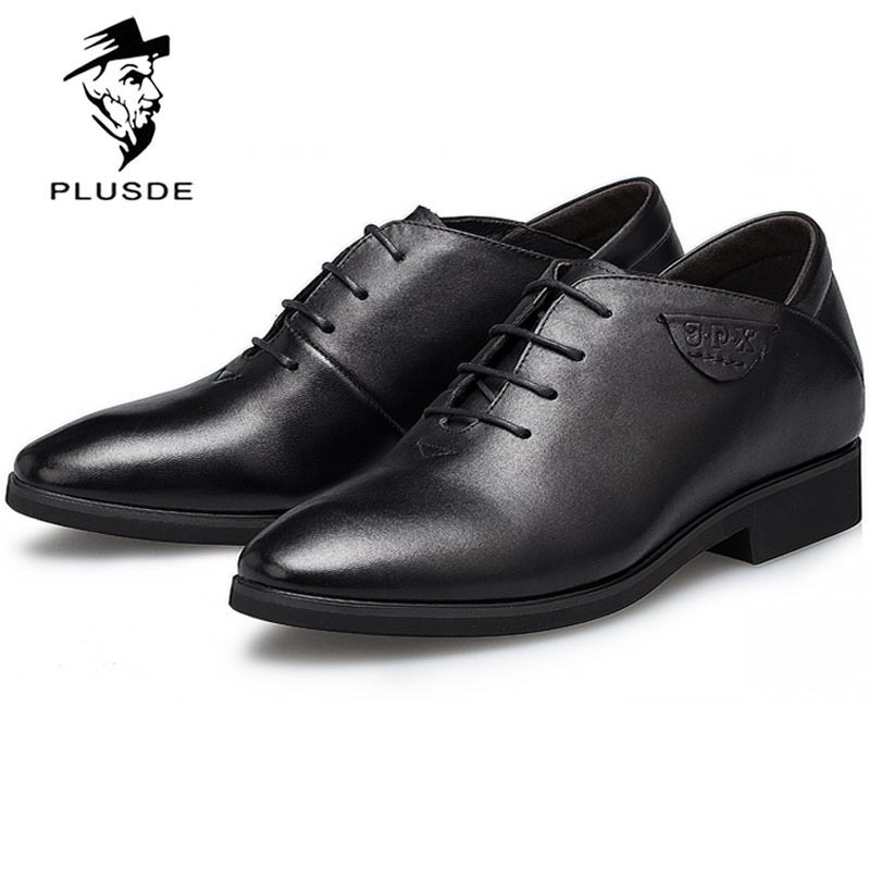 Men Genuine Leather Oxfords Shoes Men Business Dress Shoes Men Classic Pointed Shoes for Men Italian Dress Shoes