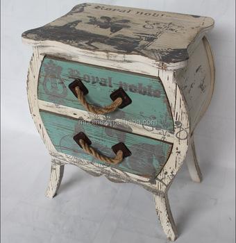 Julian Bowen Manhattan White High Gloss 2 Drawer Bedside Table