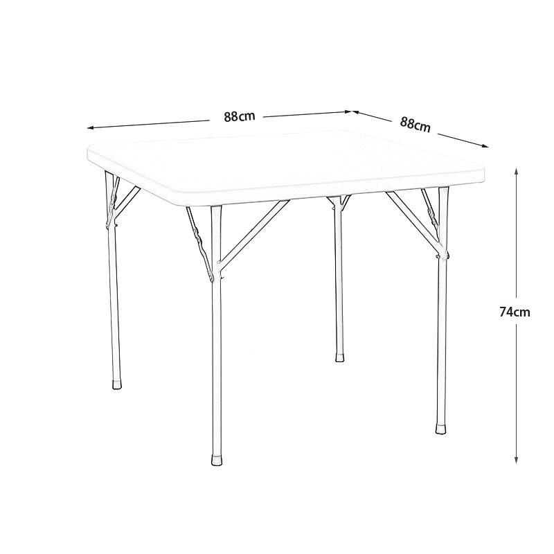 Branco resistente à água dobrável mahjong mesa de jardim ao ar livre mobiliário de huaian