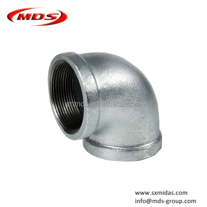 "Black Malleable Iron M/&F Elbow 1//2/"" 15mm Male to Female Elbow"