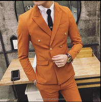 double breasted fashion bespoke men suit(SH49)