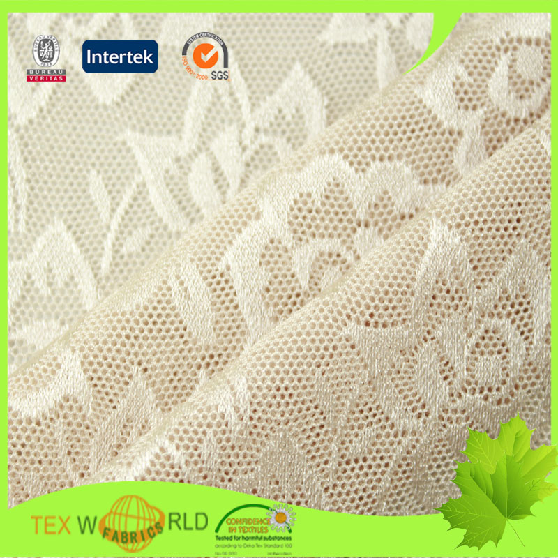 high stretch jacquard mesh fabric for bra and panties